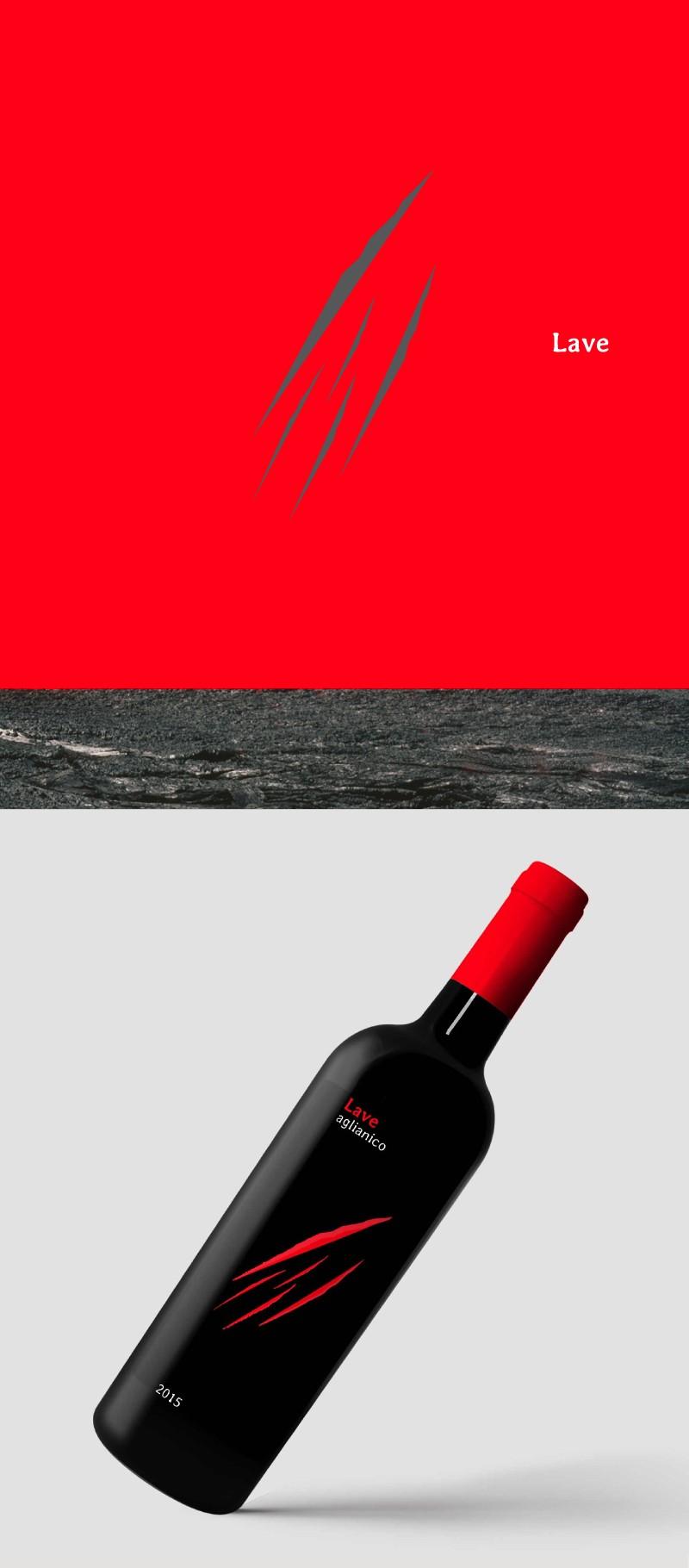 Lave - Vino Aglianico Grafica